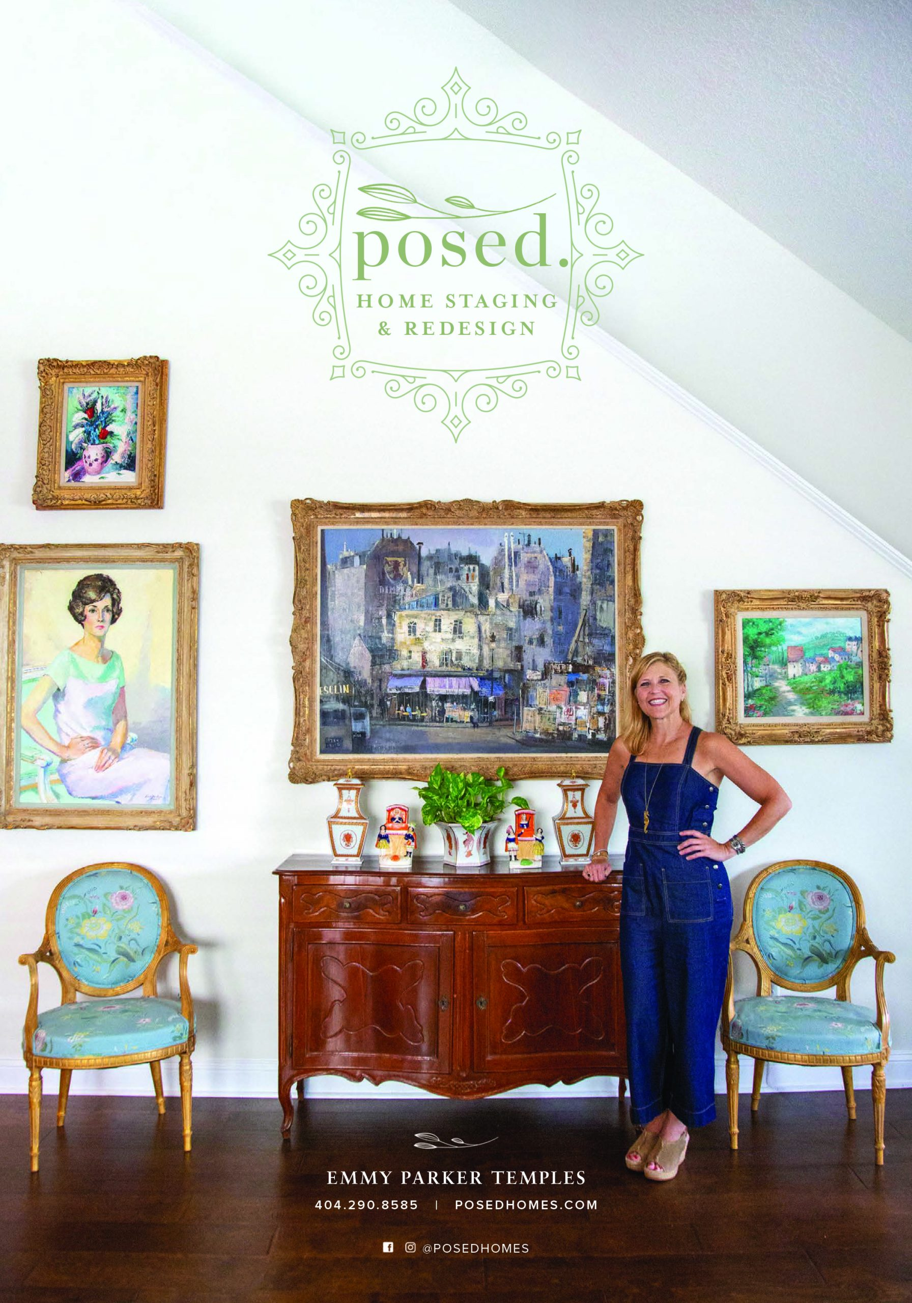 Emmy Parker Temples and Posed. Home Staging & Redesign ad in Tocal Magazine 2019